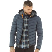 Brave Soul Mens Grant Padded Jacket Navy