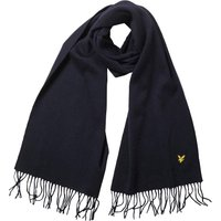 Lyle And Scott Vintage Mens Plain Lambswool Scarf New Navy