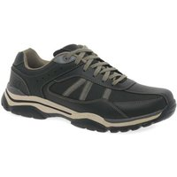 Skechers  Rovato Texon Mens Casual Lace Up Shoes  men's Shoes (Trainers) in Black