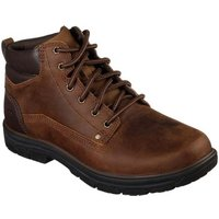 Skechers  Segment Garnet Mens Casual Lace Up Leather Boots  men's Mid Boots in Brown