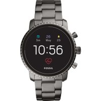 FOSSIL Q Explorist HR - Smoke, Stainless Steel Strap, Stainless Steel