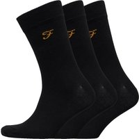 FARAH Mens Astley Three Pack Socks Black