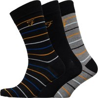 FARAH Mens Marston Three Pack Socks Black/Black/Charcoal Marl