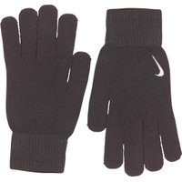 Nike Mens Swoosh Knit Gloves Black/White