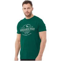 Kangaroo Poo Mens Santa Monica T-Shirt Green