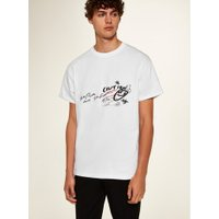Mens White Doodle T-Shirt, White