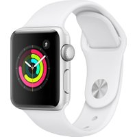 APPLE Watch Series 3 - Silver & White Sports Band, 42 mm, Silver