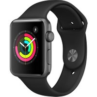 APPLE Watch Series 3 - Space Grey & Black Sports Band, 42 mm, Grey