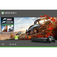 Microsoft Xbox One X Console, 1TB, with Wireless Controller and Forza Horizon 4 + Forza Motorsport 7