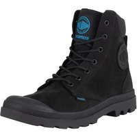Palladium  Men's Pampa Cuff WP LUX Leather Boots, Black  men's Mid Boots in Black