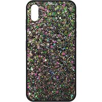 The Glitter Collective iPhone X case stars dots and glitter