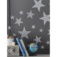 Pottery Barn Kids Star Wall Decals, Silver