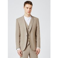 Mens Mid Grey Light Taupe Skinny Fit Suit Jacket, Mid Grey