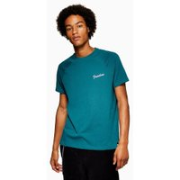 Mens Blue Teal 'Freedom' T-Shirt, Blue