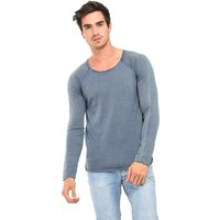 Sub Level  Round neck sweater, long sleeves  men's Sweatshirt in Blue