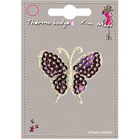 La Stphanoise Butterfly Iron On Patch, Pink