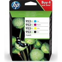 HP 953XL Cyan, Magenta, Yellow & Black Ink Cartridges, Cyan