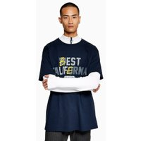 Mens Navy Best Life T-Shirt, Navy