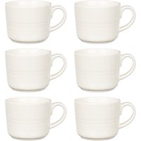 John Lewis & Partners Stockholm Mugs, Set of 6, 400ml, Pebble