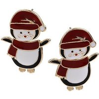 Penguin Front & back Earrings