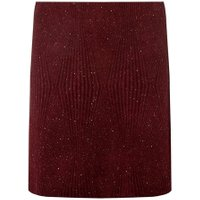 Womens Wine Textured Glitter Skirt- Red, Red
