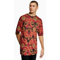 Mens Red Baroque T-Shirt, Red