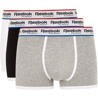Mens Multi Reebok Assorted Colour Trunks 3 Pack*, Multi