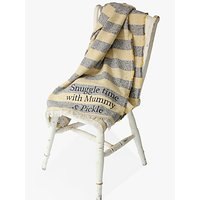 Jonny's Sister Personalised Striped Throw, Yellow