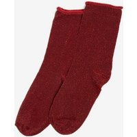 Womens Red Bauble Socks- Red, Red
