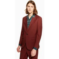 Mens Charlie Casely-Hayford X Topman Red Suit Jacket, Red