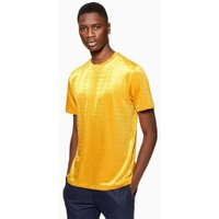 Mens Yellow Velour Corduroy T-Shirt, Yellow