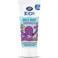 Boots Kids Mint Toothpaste 3-5yrs 75ml