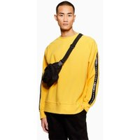 Mens Yellow Taping Sweatshirt, Yellow