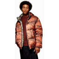 Mens Multi Reversible Camouflage Print Puffer Jacket, Multi