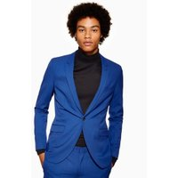 Mens Blue Super Skinny Blazer, Blue