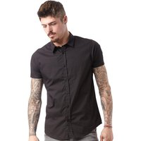 Brave Soul Mens Mombassa Short Sleeve Shirt Black