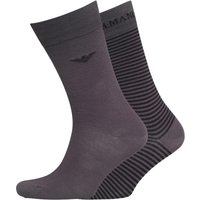 Emporio Armani Mens Two Pack Socks Anthracite