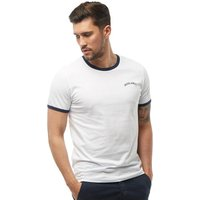 JACK AND JONES Mens Malta T-Shirt White/Dress Blue