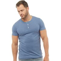 French Connection Mens TG Dad T-Shirt Light Blue Melange