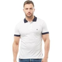 French Connection Mens Contrast Collar Polo White