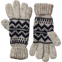 Onfire Mens Knitted Nepp Fairisle Gloves Dark Navy/Ecru
