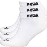 Puma Mens Three Pack Quarter Socks White