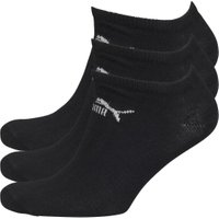 Puma Mens Three Pack No Show Socks Black