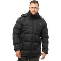 Trespass Mens Clip Padded Hooded Jacket Black