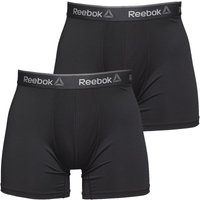 Reebok Mens Ainslie Performance Medium Two Pack Trunks Black
