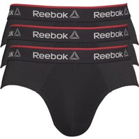 Reebok Mens Wiggins Performance Three Pack Briefs Black