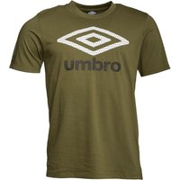 Umbro Mens Large Logo T-Shirt Capulet Olive/White/Black