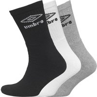 Umbro Mens Three Pack Crew Socks Mix