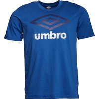 Umbro Mens Large Logo T-Shirt Royal/Astral Aura/White