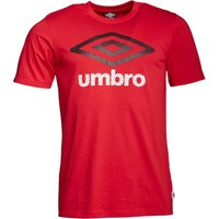 Umbro Mens Large Logo T-Shirt Vermillion/Black/White